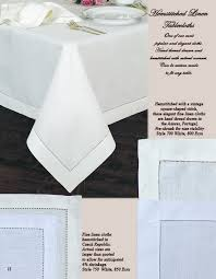 hemstitched linen tablecloths runners placemats and napkins