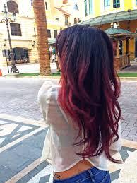 red ombré with magenta peekaboos hair hair hair pinterest
