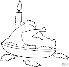 turkey dinner coloring page free printable coloring pages