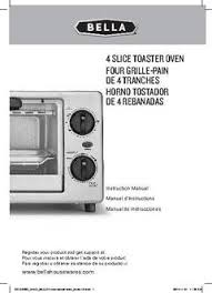 Bella Toaster Reviews 4 Slice Toaster Oven Bella Housewares