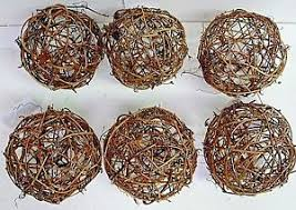 grapevine balls lot of 6 grapevine balls 4 craft decor paint wrap w