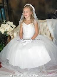 communion dress communion dress with gathered sequined bodice