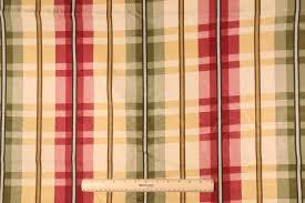 Red Plaid Upholstery Fabric Yards Richloom Jacquard Plaid Printed Cotton Drapery Fabric