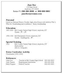 employment resume template resume template high school sles for student