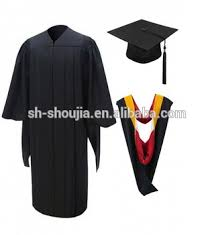 graduation gowns matte college graduation cap and gown hot style high quality