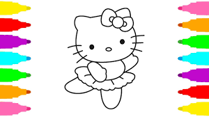 coloring pages kitty draw kitty kids