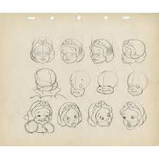 snow white model drawings from snow white and the seven dwarfs