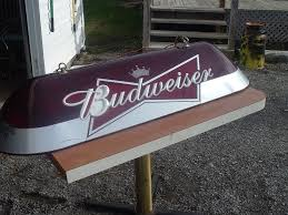 budweiser pool table light with horses vintage budweiser pool table light 4 6 long man cave garage