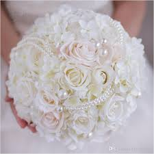 hydrangea wedding bouquet 2017 pearls wedding bouquet handmade bridal holding flowers