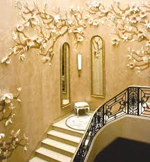 3d wallpaper decorating ideas staircase modern with wall decor