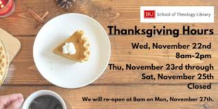 thanksgiving hours school of theology library
