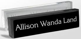 Desk Name Plates With Business Card Holder Name Plates Classic Logo Reusable Desk Blocks And Wedges