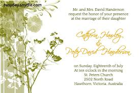 invitation wordings for marriage wedding invitation wording easyday