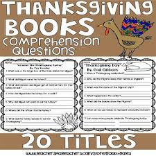 thanksgiving books comprehension questions gail gibbons