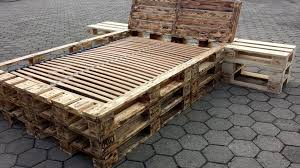 Bed Frame Made From Pallets Diy Pallet Bed Frame With Nightstands Pallet Furniture