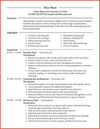 Housekeeper Resume Sample by Housekeeper Resume Proposal Bid Template
