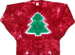 amazon com tie dyed shop red crinkle christmas tree tie dye t