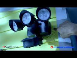 lithonia led flood light lithonia oflr 9ln 120 mo wh m2 led outdoor 3 light floodlight with