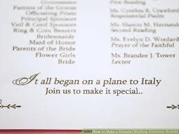 how to do a wedding ceremony program how to make a personal wedding ceremony booklet 11 steps