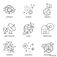 space icons set wall sticker wall stickers space icons set wall sticker
