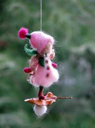 ornament needle felted ornament waldorf inspired