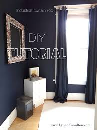 Industrial Curtain Wall Diy How To Make A Curtain Rod From An Industrial Pipe
