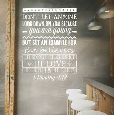 vinyl wall decal 1 timothy 4 12 youth room bible verse