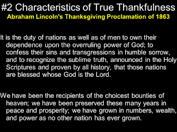abraham lincoln thanksgiving proclamation text are we truly thankful in life ppt download