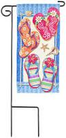 Mini Garden Flags Amazon Com Miniture Summer Beach House Flag Mini Sandals Garden