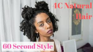 hairstyles for short medium length hair double buns 60 second easy natural 4c hairstyles for short