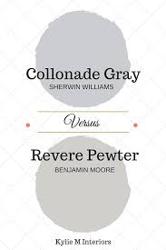 colour review collonade gray vs revere pewter