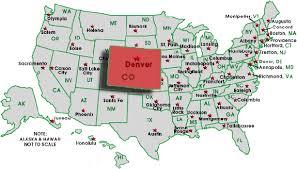map us denver map us denver major tourist attractions maps