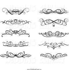 wedding design vector marriage clipart of black and white swirl wedding design