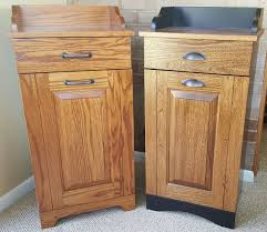 Amish Built Kitchen Cabinets by Tips Wood Trash Cans Tilt Out Trash Bins Tilt Out Trash Bin