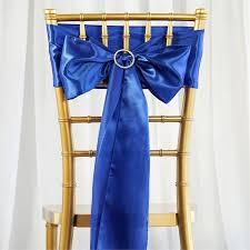 blue chair sashes 5pc x royal blue satin chair sash efavormart