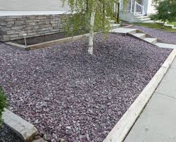 design garden with river rock drainage regard to low landscape