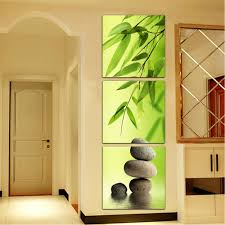 3 picture combination abstract bamboo stone picture printed on 3 picture combination abstract bamboo stone picture printed on canvas decorative paintings artworks for home wall decor in painting calligraphy from home