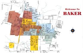 Louisiana Parish Map With Cities by City Of Baker District