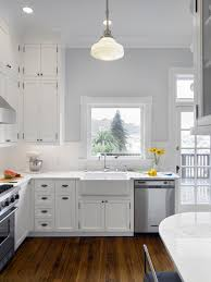 gray walls with stained kitchen cabinets white and gray kitchen transitional kitchen chrdauer