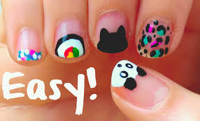 diy easy nail art designs for short nails for beginners u0026 no