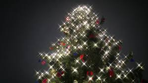 tree with special lights and snowfall in hd 1080p