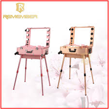 professional makeup station with lights cosmetic vanity trolley