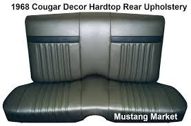 Seat Upholstery 1968 Cougar Decor Bucket Upholstery