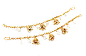earring chain necklace images Gorgeous detailed jhumki earring support chains glimour jewellery JPG