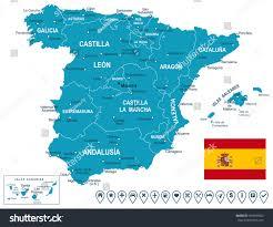Maps Of Spain Map Spain Stock Vector 264909302 Shutterstock