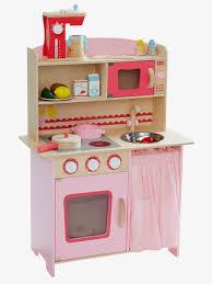 spielküche holz vertbaudet große spielküche aus holz in rosa natur
