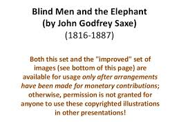 Blind Man And Elephant Blind Men And The Elephant