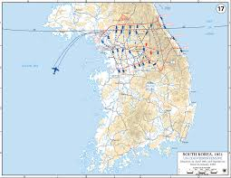 Map Of South Korea Map Of The Korean War April 1951