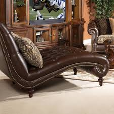 Leather Chaise Lounge Chair Bedroom Wide Chaise Lounge Chairs Which Are Made Of Brown Velvet