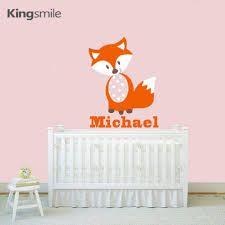 personalised name 3 elephants wall decal nursery baby name wall